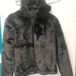 Jackets & Blazers - Faux fur bomber style jacket
